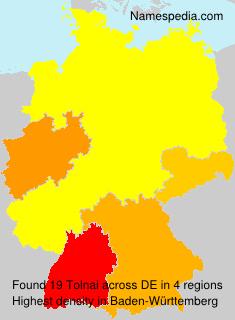 Surname Tolnai in Germany