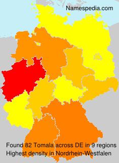 Surname Tomala in Germany
