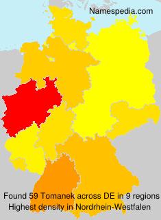 Surname Tomanek in Germany