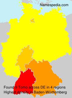 Surname Tomo in Germany