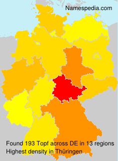Familiennamen Topf - Germany