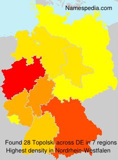 Familiennamen Topolski - Germany