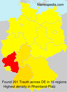 Surname Trauth in Germany