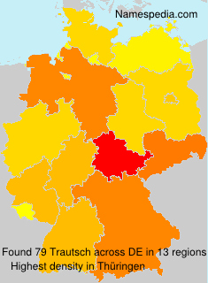 Surname Trautsch in Germany
