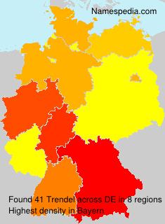 Surname Trendel in Germany