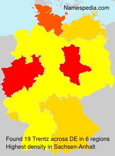 Surname Trentz in Germany