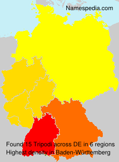 Surname Tripodi in Germany