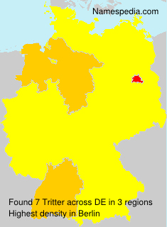 Surname Tritter in Germany