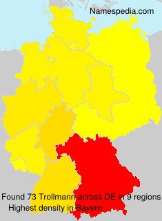 Surname Trollmann in Germany