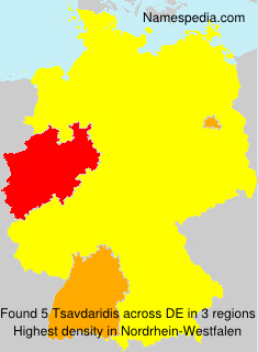 Surname Tsavdaridis in Germany