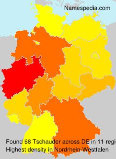 Familiennamen Tschauder - Germany
