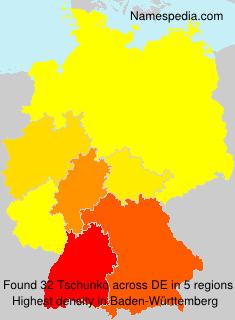 Familiennamen Tschunko - Germany