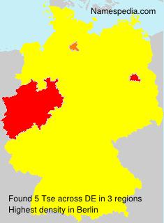 Familiennamen Tse - Germany