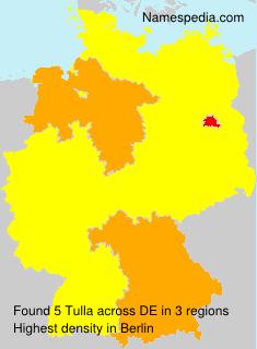 Familiennamen Tulla - Germany