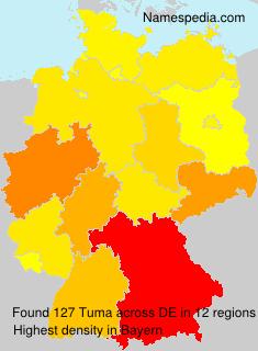 Surname Tuma in Germany
