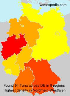 Familiennamen Tuna - Germany