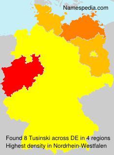 Surname Tusinski in Germany