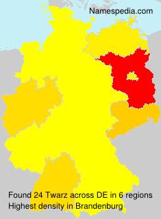 Surname Twarz in Germany