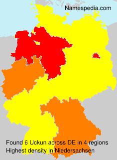Surname Uckun in Germany