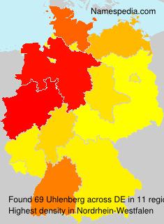 Surname Uhlenberg in Germany