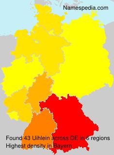Familiennamen Uihlein - Germany