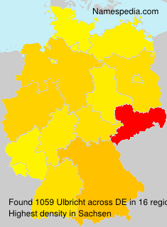 Surname Ulbricht in Germany