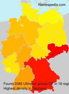 Familiennamen Ullmann - Germany