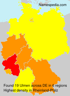 Surname Ulmen in Germany