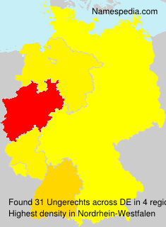Surname Ungerechts in Germany