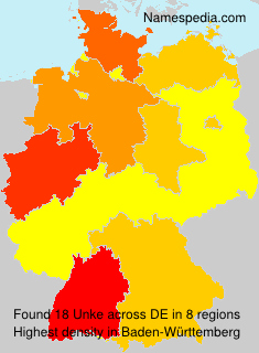 Surname Unke in Germany