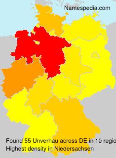 Surname Unverhau in Germany