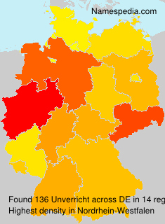 Surname Unverricht in Germany