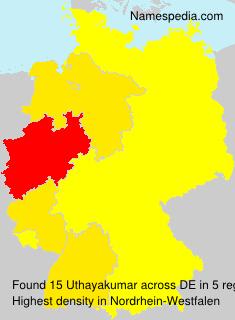 Surname Uthayakumar in Germany