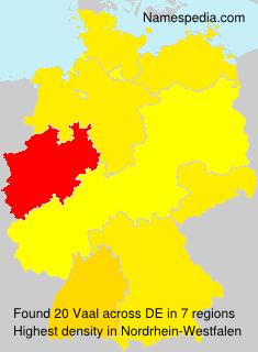 Familiennamen Vaal - Germany