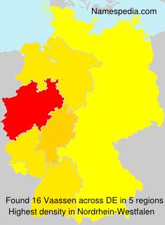 Surname Vaassen in Germany