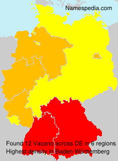Surname Vacano in Germany