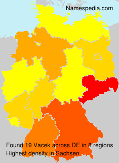 Surname Vacek in Germany