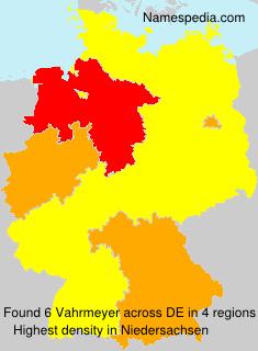 Surname Vahrmeyer in Germany