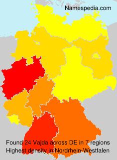 Surname Vajda in Germany