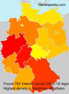 Surname Valentin in Germany
