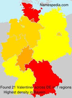 Surname Valentiner In Germany ...