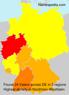 Familiennamen Valero - Germany