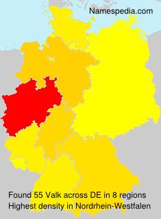 Surname Valk in Germany