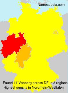 Surname Vanberg in Germany