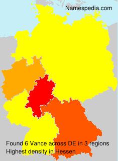 Surname Vance in Germany