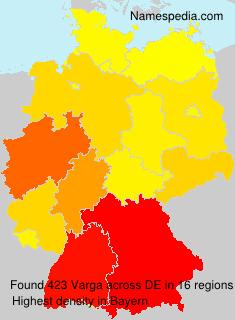 Surname Varga in Germany