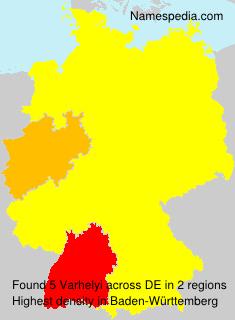 Surname Varhelyi in Germany