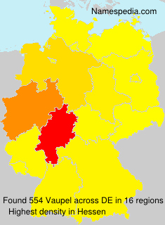 Surname Vaupel in Germany