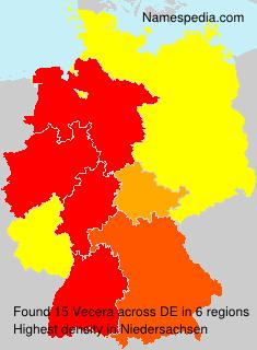 Surname Vecera in Germany