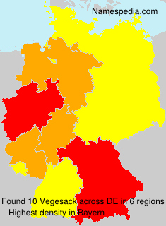 Surname Vegesack in Germany